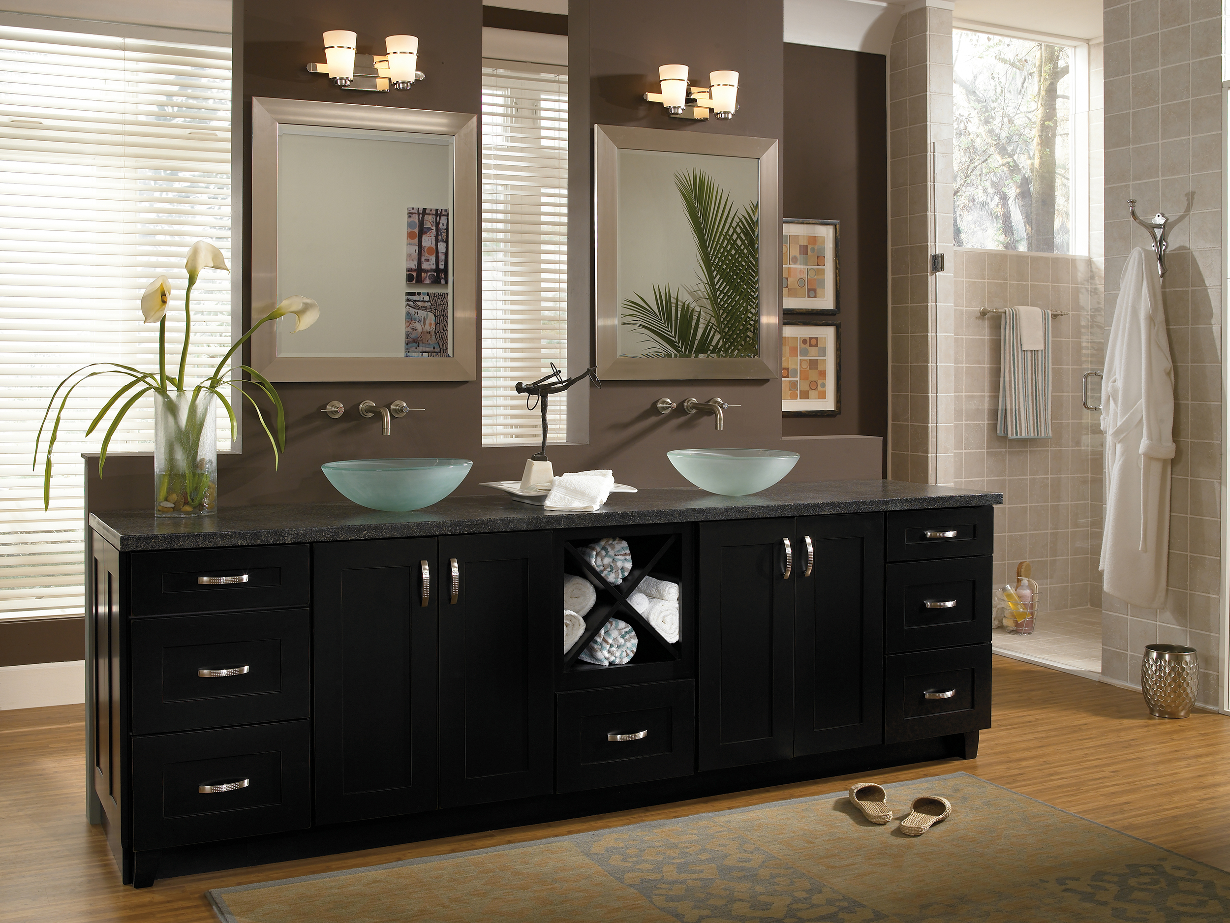 black cabinets in bathroom cabinetry derry nh cabinets shore ma 17391